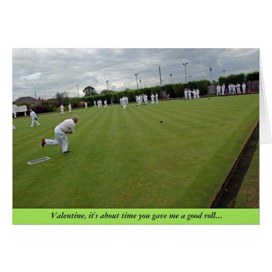 Bowling Valentine Card