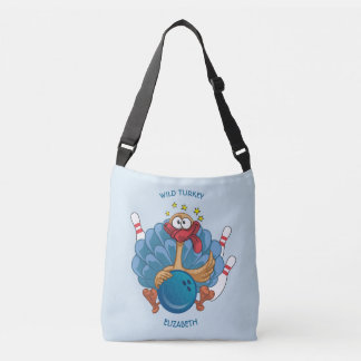 Bowling Wild Turkey With Ball And Pins Crossbody Bag