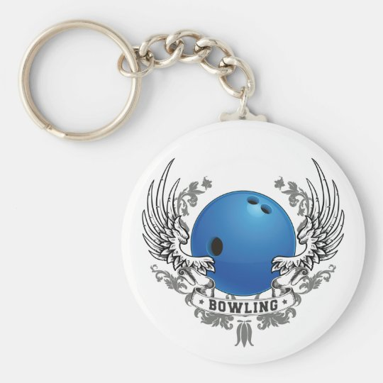 Bowling Wings Keychain