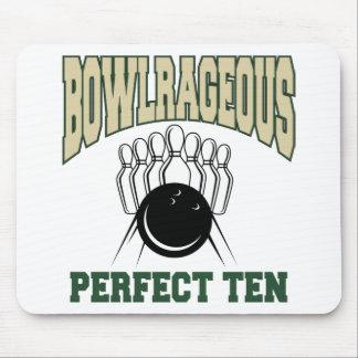 Bowlrageous Perfect Ten Bowler Mouse Pad