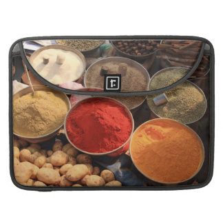 Bowls of cooking spices in Indian market Sleeve For MacBooks