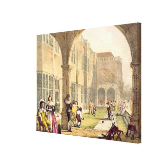 Bowls on the Terrace at Bramshill in 1600, from 'A Gallery Wrapped Canvas