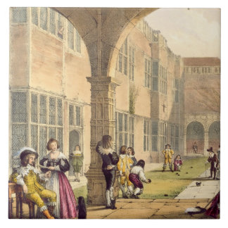 Bowls on the Terrace at Bramshill in 1600, from 'A Large Square Tile