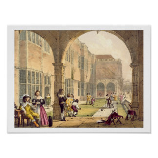 Bowls on the Terrace at Bramshill in 1600, from 'A Poster
