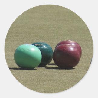 Bowls Round Sticker
