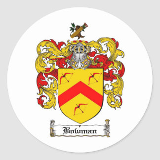 BOWMAN FAMILY CREST -  BOWMAN COAT OF ARMS STICKER