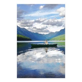 Bowman Lake - Glacier National Park Montana Customised Stationery