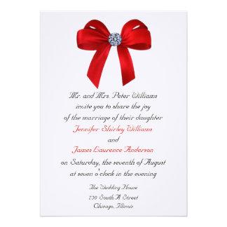 Bows and Diamonds Wedding Invitation