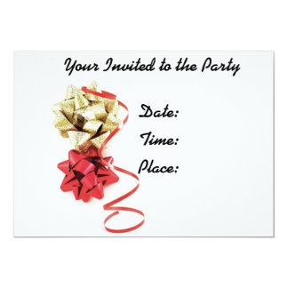 Bows and Ribbon Party Invitaion 13 Cm X 18 Cm Invitation Card