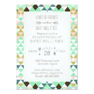 Bows or Arrows Tribal Gender Baby Reveal Card