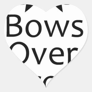 bows over bros- black heart sticker