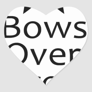 bows over bros- black heart sticker