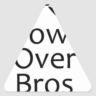 bows over bros- black stickers