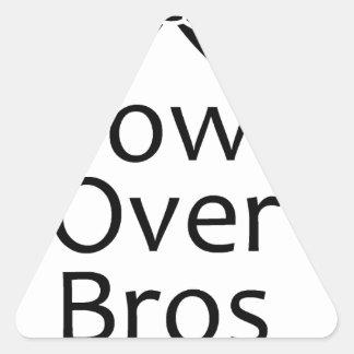 bows over bros- black triangle sticker