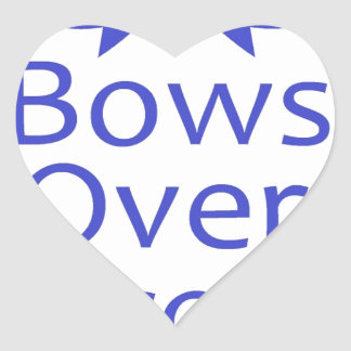 Bows Over Bros- Blue Heart Sticker