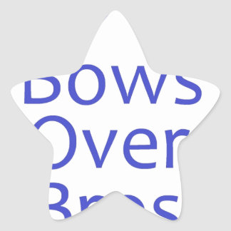 Bows Over Bros- Blue Sticker