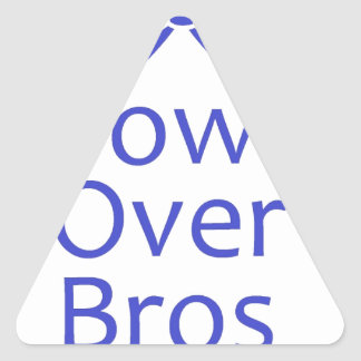 Bows Over Bros- Blue Triangle Sticker