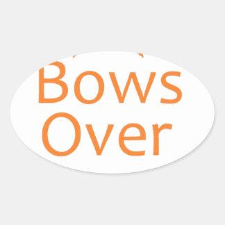 Bows over Bros- Orange Stickers