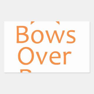 Bows over Bros- Orange Rectangle Sticker