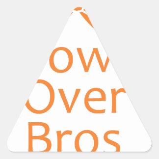 Bows over Bros- Orange Triangle Sticker