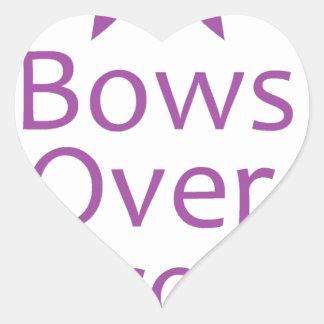 Bows over bros- Purple Heart Sticker