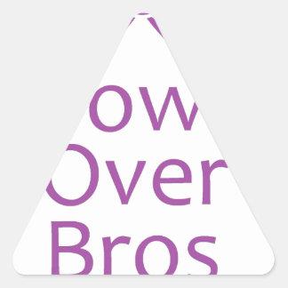 Bows over bros- Purple Triangle Sticker
