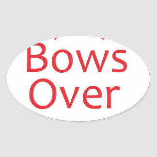 Bows over Bros-Red Oval Sticker