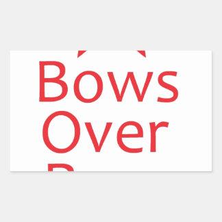 Bows over Bros-Red Rectangular Sticker