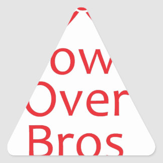 Bows over Bros-Red Triangle Sticker