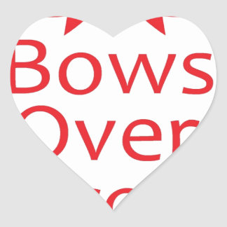 Bows over Bros-Red Heart Sticker
