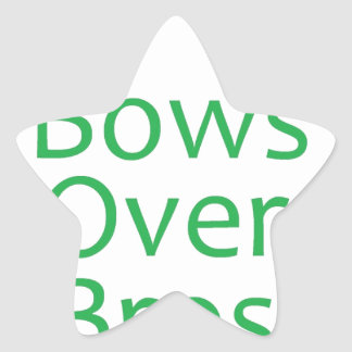 Bows over brows- green star stickers