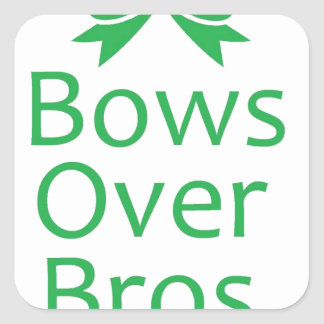 Bows over brows- green sticker