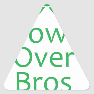 Bows over brows- green triangle sticker