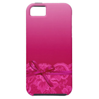 Bows Ribbon & Lace   fuschia Case For The iPhone 5