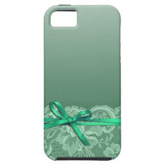 Bows Ribbon & Lace   mint Tough iPhone 5 Case
