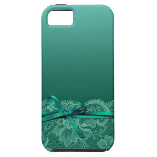 Bows Ribbon & Lace | teal iPhone 5 Cases