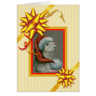 Bows, Ribbons and Stripes Christmas Card