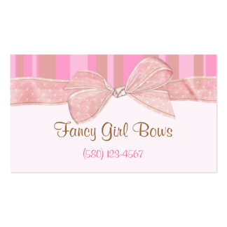 bows tutus cute business card classy chic sassy