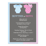 Bowties or Bows Gender Reveal Invitaition 13 Cm X 18 Cm Invitation Card