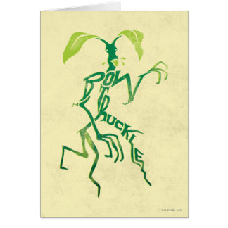 Bowtruckle Typography Graphic Card