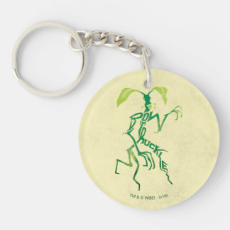 Bowtruckle Typography Graphic Double-Sided Round Acrylic Key Ring