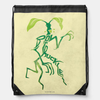 Bowtruckle Typography Graphic Drawstring Bag