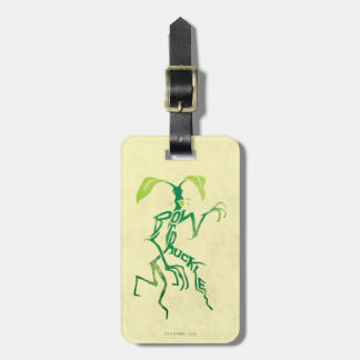 Bowtruckle Typography Graphic Luggage Tag