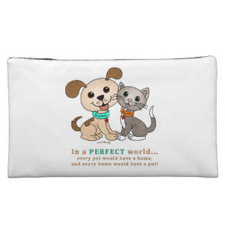 BowWow and MeeYow (Pet Adoption-Humane Treatment) Cosmetic Bag