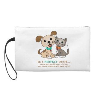 BowWow and MeeYow (Pet Adoption-Humane Treatment) Wristlet Clutches