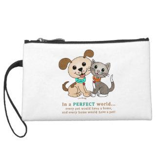 BowWow and MeeYow (Pet Adoption-Humane Treatment) Wristlet Purse