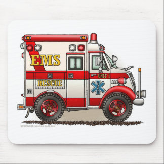 Box Ambulance EMS EMT Emergency Mouse Pad