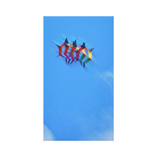 Box Kite Stretched Canvas Print
