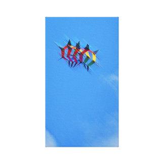 Box Kite Stretched Canvas Print