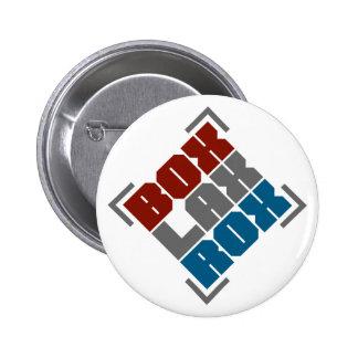 Box Lacrosse Rocks 6 Cm Round Badge